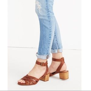 Madewell Lucy sandal in brown leather